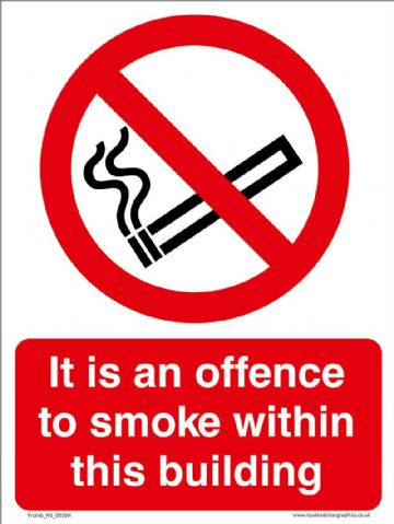 It is an offence to smoke within this building